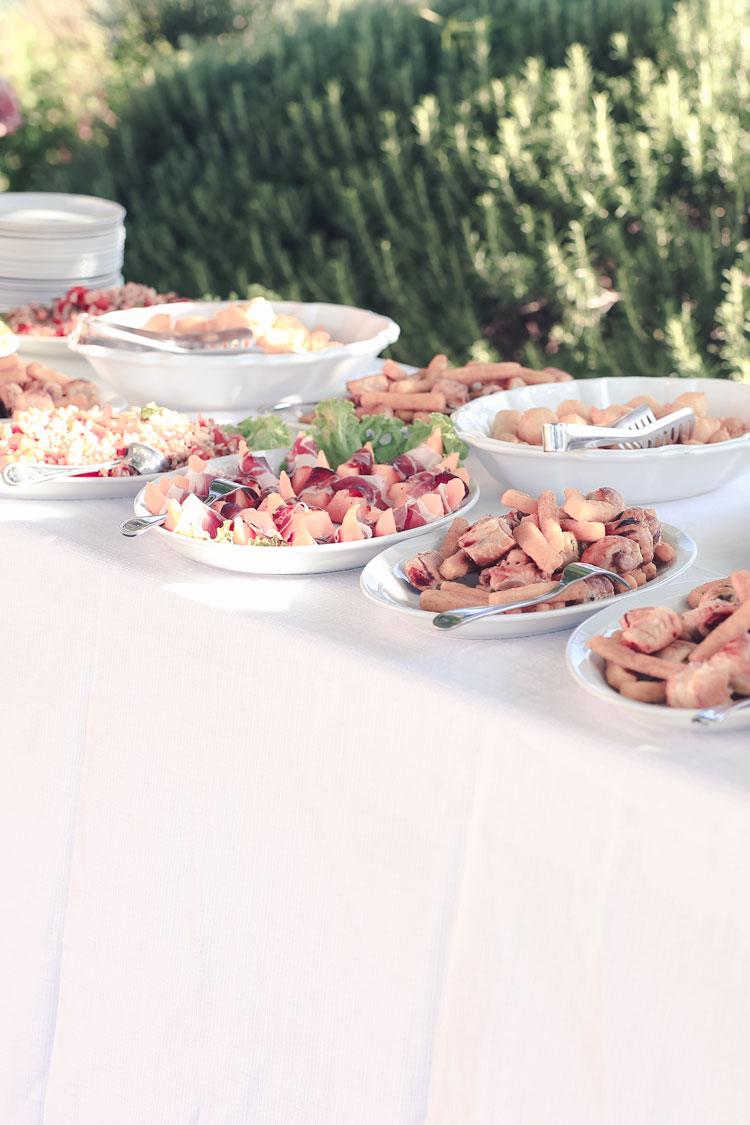 Italiaans buffet bij Italiaanse bruiloft in Nederland