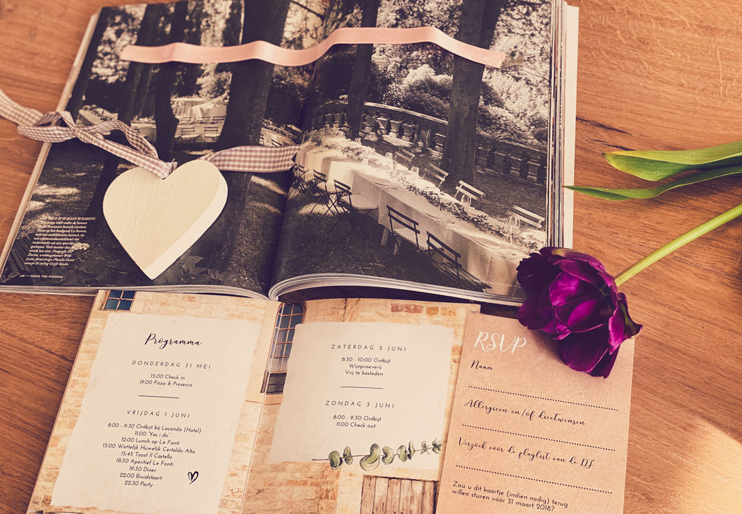 moodboard Italiaanse bruiloft