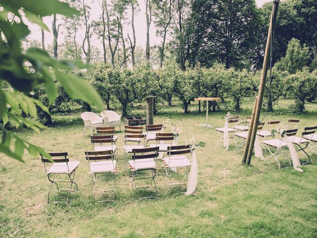 Buiten bruiloft ceremonie locatie Olmenhorst